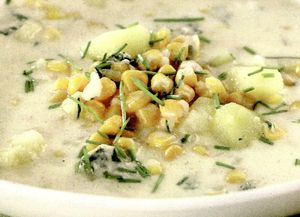 Supa cremoasa de porumb