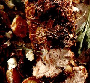 Ceafă de porc cu glazură de muştar