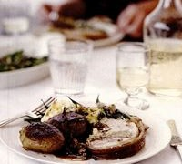 Friptura de porc cu sos de zmeura