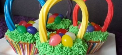 How to make Easter Basket Cupcakes