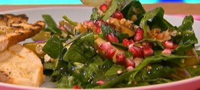 Spinach Salad and Hot Bacon Dressing