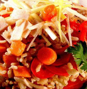 Salata cu orez si praz