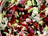 Salata de varza cu ceapa coapta