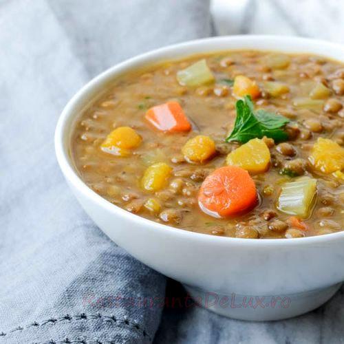 Supă de linte cu şuncă