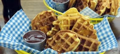 How to Make Chicken in a Waffle