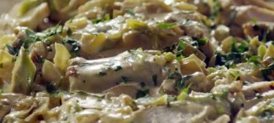 How to Make Chicken on Linguine