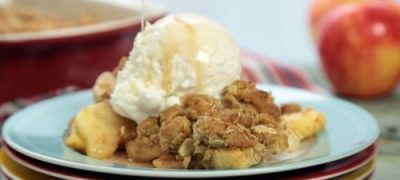 How to Make Oatmeal Cookie Apple Crisp