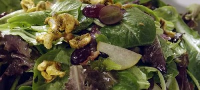 How to make Curried Cashew Pear and Grape Salad