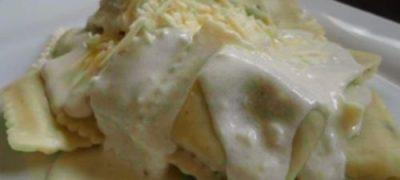 How to make Garlic Alfredo Ravioli