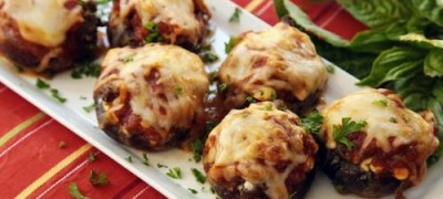 How to make Lasagna Stuffed Mushrooms