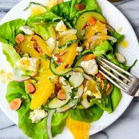Salata cu dressing de portocale
