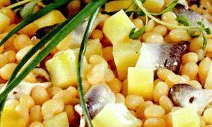 Fasole boabe cu stevie si coriandru