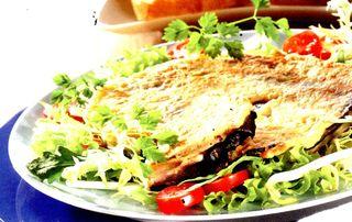 Snitel cu salata orientala
