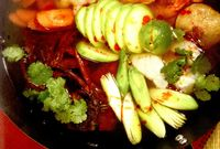 Amestec de fructe de mare in zeama de ghimbir