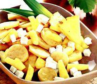 Cartofi dulci cu fructe