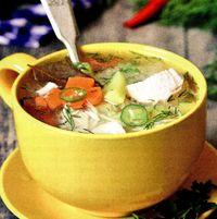 Ciorba de pui cu legume si cus-cus