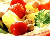 Crema glasata cu fructe
