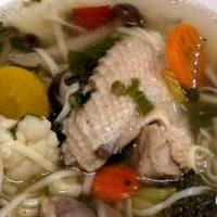 Supa de pui cu hasmatuchi