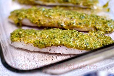 File de peşte cu pesto