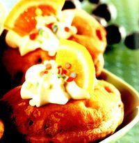 Gogosi cu portocale si frisca