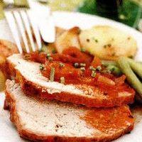 Muschi de porc la cuptor cu garnitura