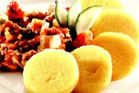 Polenta cu mangold