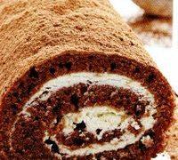 Rulada cu cacao si crema de branza