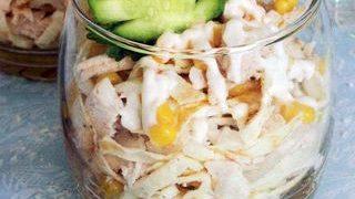 Salata cu pui, telina si porumb