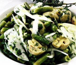 Salata asortata cu ciuperci
