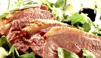 Salata de rucola cu piept rece de rata
