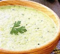 Supa crema de dovlecei cu tofu