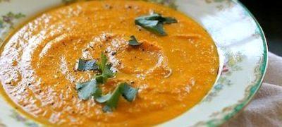 Supa crema de morcovi cu caju