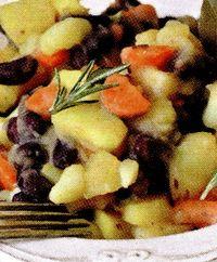 Cartofi dulci copţi cu fasole