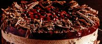 Tort de ciocolata cu jeleu de fructe