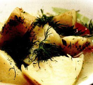 Ciorba de cartofi noi cu tarhon