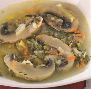 Ciorba cu ciuperci si legume