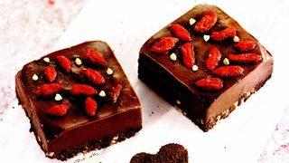 Cuburi de ciocolata cu Goji