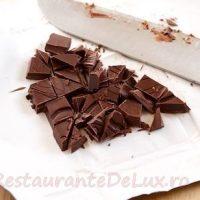 Desert cu ciocolata si merisoare