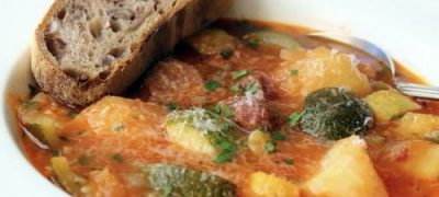 How to Make Summer Squash Sausage Stew