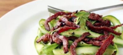 How to Make Shaved Asparagus Salad with Fried Pastrami