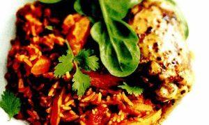 Carne de vita cu orez si morcovi