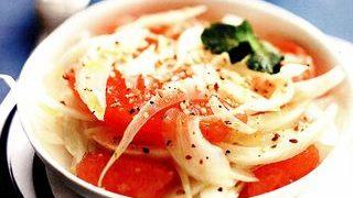 Salata de fenicul cu grepfrut rosu