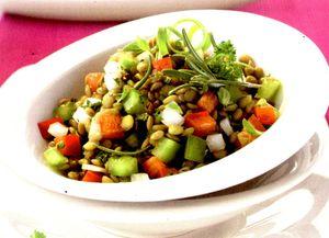 Salata de linte cu ciuperci