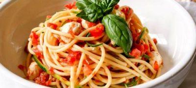 Spaghete cu rosii si ciuperci