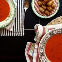 Supa de rosii cu gremolata