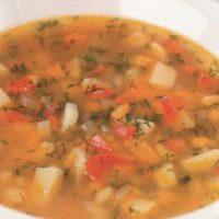 Supa de fasole cu mujdei