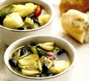 Supă de peşte cu smantană si broccoli