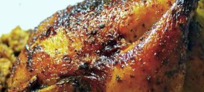 Chicken with homardine sauce