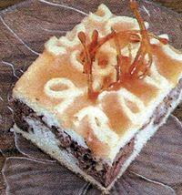 Prajitura marmorata cu frisca si caramel