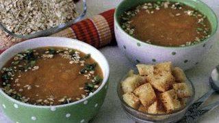 Supa-crema cu fulgi de ovaz